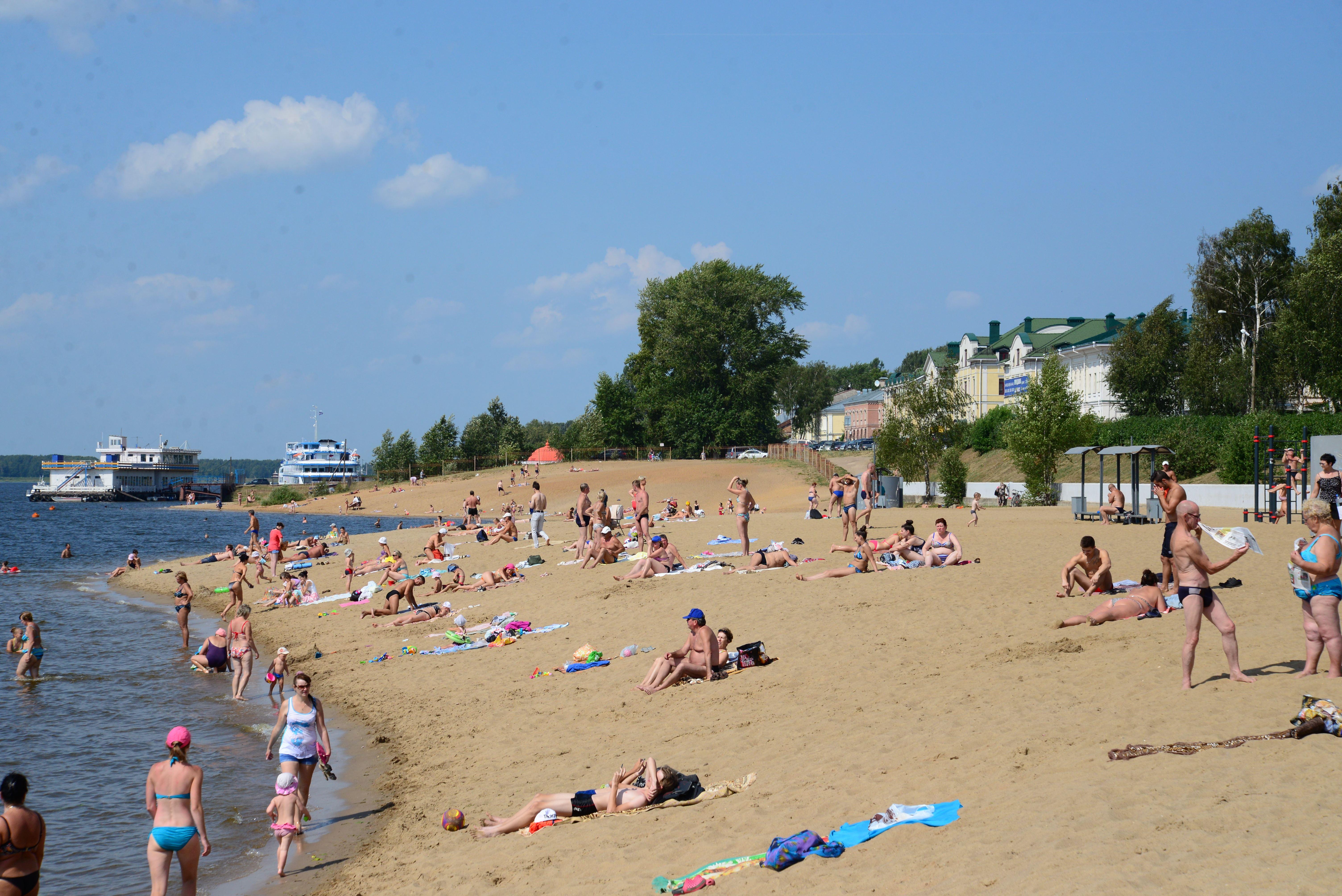 Кострома городской пляж фото