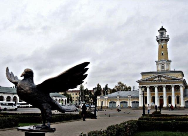 Костромичей просят осодействии впоиске похищенной скульптуры голубя